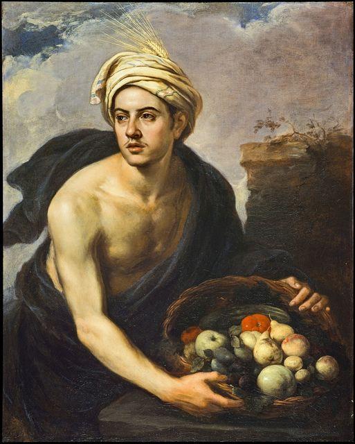 , 'Junger Mann mit einem Fruchtkorb,' ca. 1640, Gemäldegalerie Alte Meister