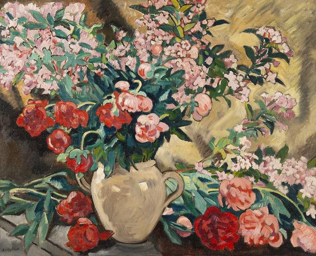 Louis Valtat, 'Pivoines dans un vase jaune', ca. 1927, HELENE BAILLY GALLERY