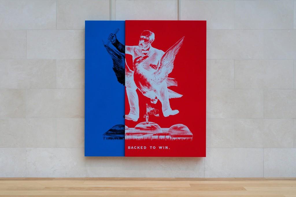 Installation view, Kathryn Andrews: Run for President, Nasher Sculpture Center, September 10, 2016 - January 08, 2017. Photo: Kevin Todora.