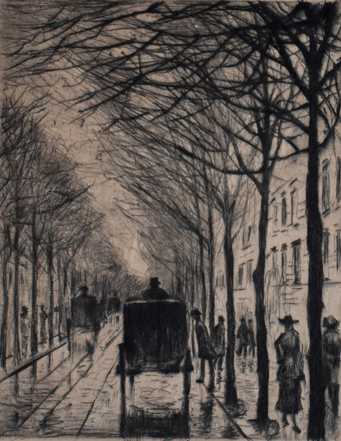 Lesser Ury, 'Streetscape small Bellevuestraße   Straßenbild Klein Bellevuestraße', 1919, Gilden's Art Gallery