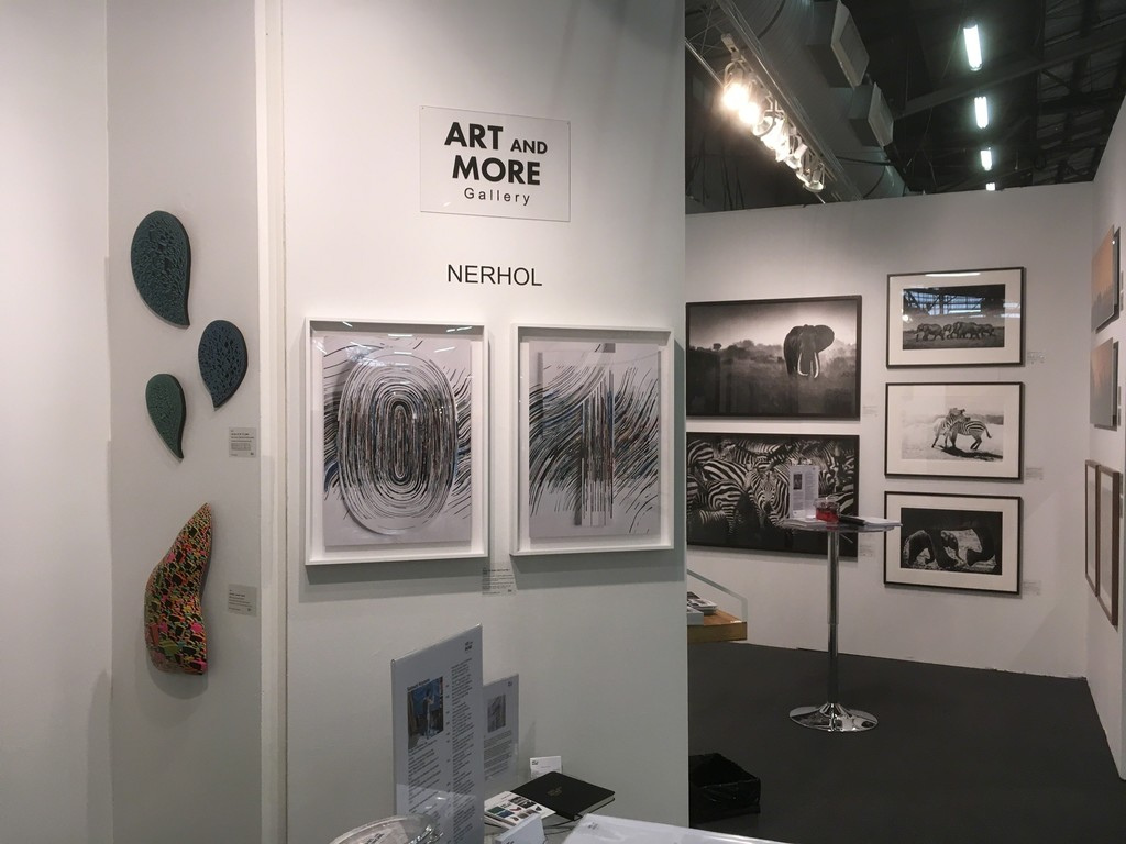 Booth #110: Art and More Gallery with Satoshi Koyama, Nerhol and Frank af Petersens at Artexpo New York 2017