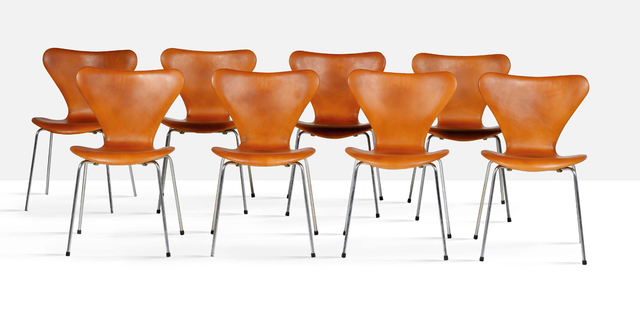 Arne Jacobsen, 'Set of 8 chairs', 1976, Aguttes