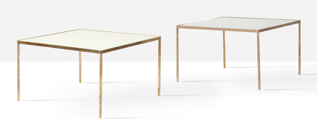 '2 coffee tables', Circa 1960, Design/Decorative Art, Brass, opaline, Aguttes