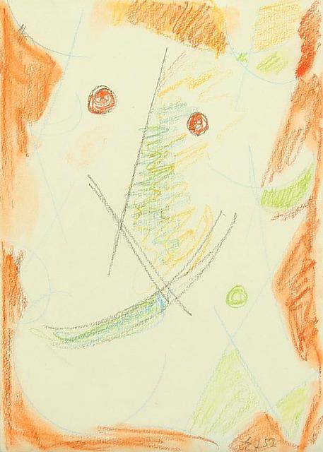 , 'Composition with mask,' 1952, HUNDERTMARKartFAIR