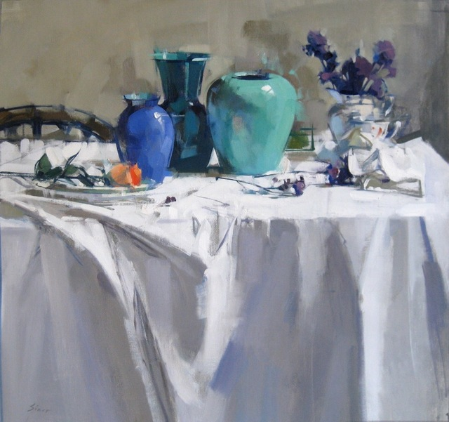 , 'Blue Vases and Violet,' 2016, J. Cacciola Gallery