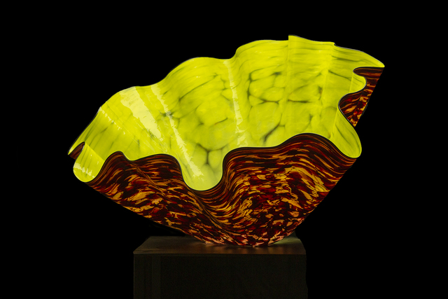 Dale Chihuly, 'Dale Chihuly Dandelion Macchia with Black Lip Wrap Original Handblown Glass Signed Contemporary Art', 1990-2010, Modern Artifact