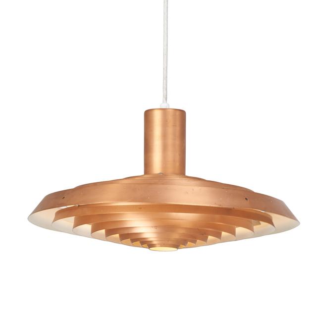 Poul Henningsen, 'Pendant lamp designed for Langelinie Pavilion', 1960s, Design/Decorative Art, Copper, chromed steel, Denmark, Rago/Wright