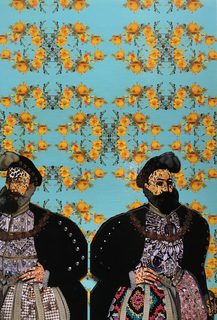 , 'Heads of State (yellow floral),' 2019, BoxHeart