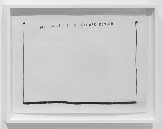 , 'My Voice is a Gender Bender,' 2015, Carroll / Fletcher