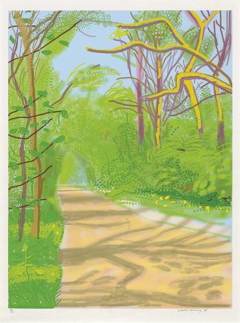 David Hockney, 'The Arrival of Spring in Woldgate, East Yorkshire in 2011 (twenty eleven) - 25 April 2011', 2011, Christie's