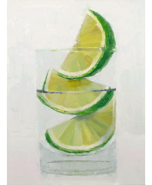 Tom Giesler, 'Floral 60: lime', 2021, Painting, Oil on panel, McVarish Gallery
