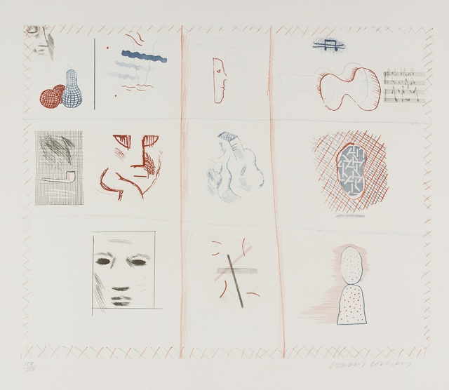 David Hockney, 'Franco-American Mail from The Blue Guitar) (MCA Tokyo 182)', 1976-77, Forum Auctions