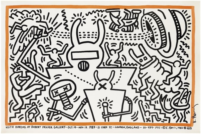 Keith Haring, 'Keith Haring at Robert Fraser Gallery', 1983, Artificial Gallery