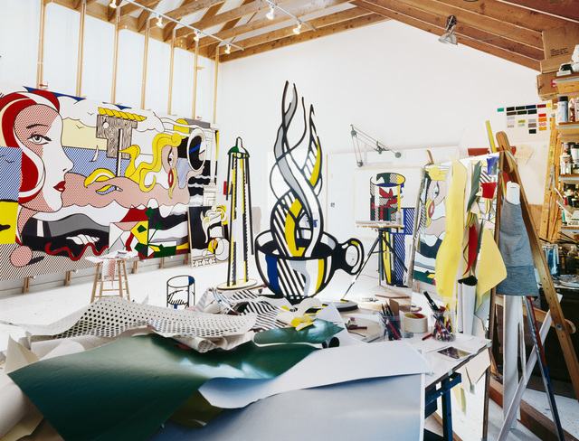, 'Roy Lichtenstein (Lichtenstein Studio Southampton), New York,' 1977, Bernheimer Fine Art