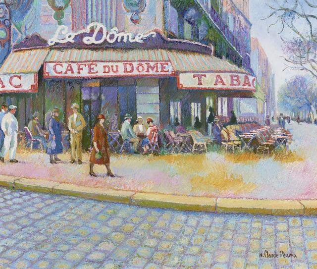 Hugues Claude Pissarro, 'Le Dôme, Montparnasse, Paris XIVe', 21st Century,  M.S. Rau Antiques