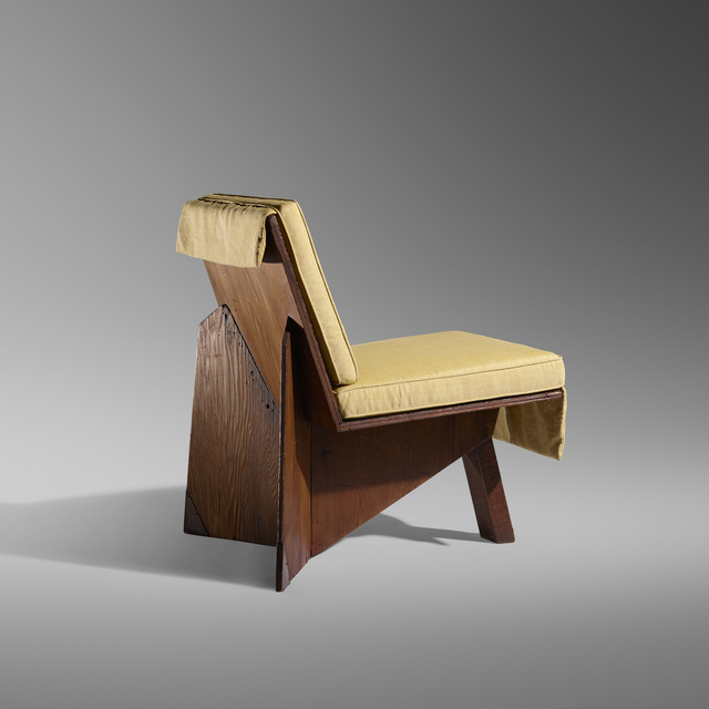 Superb Frank Lloyd Wright Lounge Chair From The George Sturges Theyellowbook Wood Chair Design Ideas Theyellowbookinfo