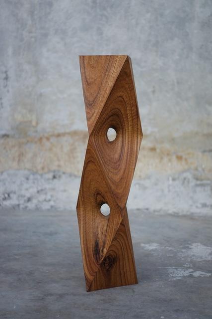 Aleph Geddis, 'Optio', 2020, Sculpture, Hand-carved Monkeypod wood, Massey Klein Gallery