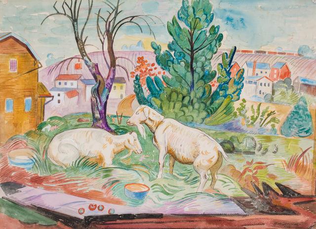 , 'Brandywine Landscape with Goats,' 1943, WOLFS