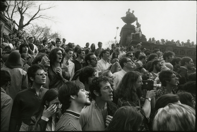 , 'Bethesda fountain with crowds,' 1970, Rick Wester Fine Art