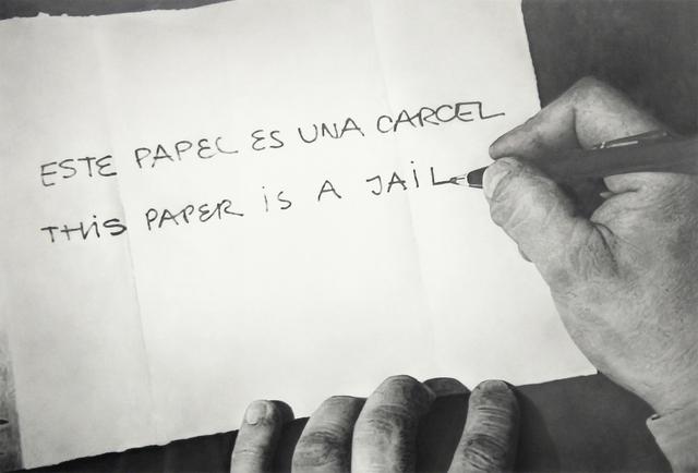 """, 'Formalizing their concept: Horazcio Zabala's  """"Este papel es una carcel"""" 1972,' 2013, Wilding Cran Gallery"""