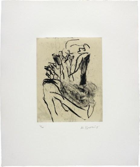 Willem de Kooning, 'Seventeen Lithographs for Frank O'Hara: One plate', 1988, Upsilon Gallery