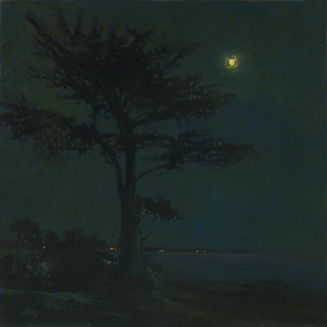 , 'Moonrise Over Steamers Lane ~ Santa Cruz, CA,' 2018, The Guild of Boston Artists