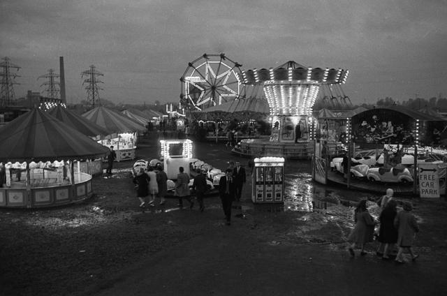 , 'Gloucester Fairground,' 1957, Osborne Samuel