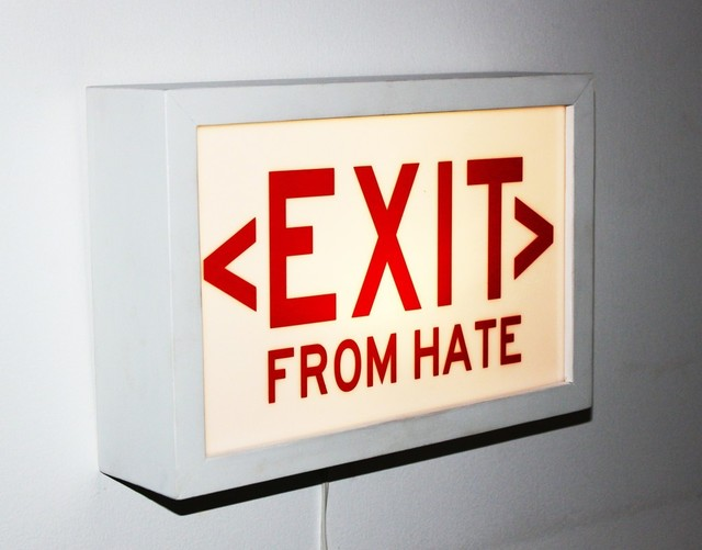 , 'EXIT from HATE,' 2017, The Untitled Space