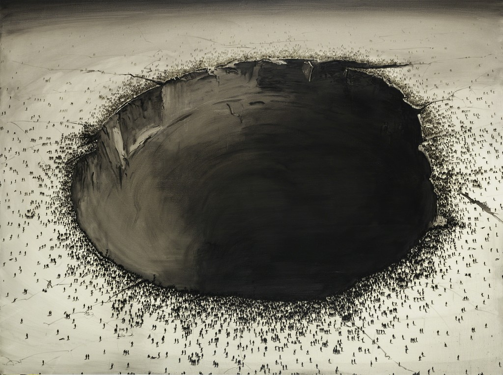 Lu Chao, Sink Hole, 2015 Oil on canvas 150 x 200 cm  (59 x 78 3/4 in.) - Courtesy Galerie Nathalie Obadia