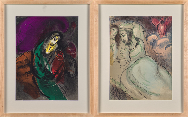 Marc Chagall, 'David and Absalom and Sarah and Abimelech from The Bible series', Print, Two lithographs in colors, Rago/Wright