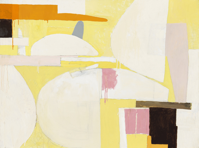 , 'Still Life / abstract expressionistic geometry in soft yellow ,' 2014, Andra Norris Gallery