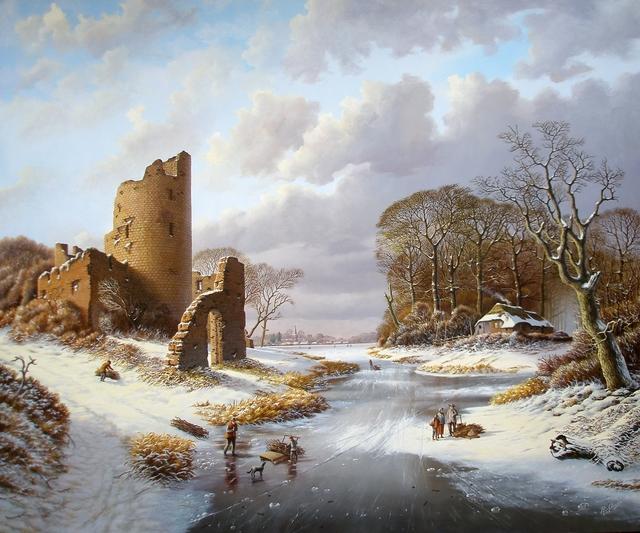 , 'Winterlandscape with ruins and figures,' , ArtBoutique