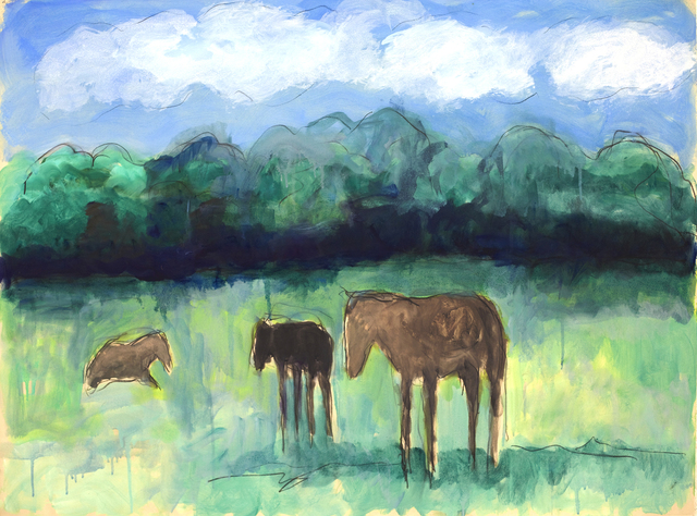 Theodore Waddell, 'Lexington Horses Dr. #5', Gail Severn Gallery