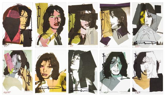 , 'Mick Jagger Invitations (F&S II.138-147),' 1975, Merritt Gallery