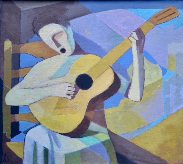"""Ernest Neuschul, '""""die Singende Lautenspielerin"""" Singing Lutenist', 1963, White Court Art"""