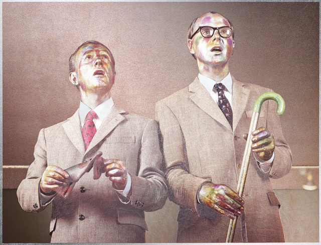 Gilbert and George, 'The Singing Sculpture 1969-91', 1993, Print, Relief print in colours, on aluminium foil (Dufex) flush-mounted to museum board, with screenprint, with full margins., Phillips