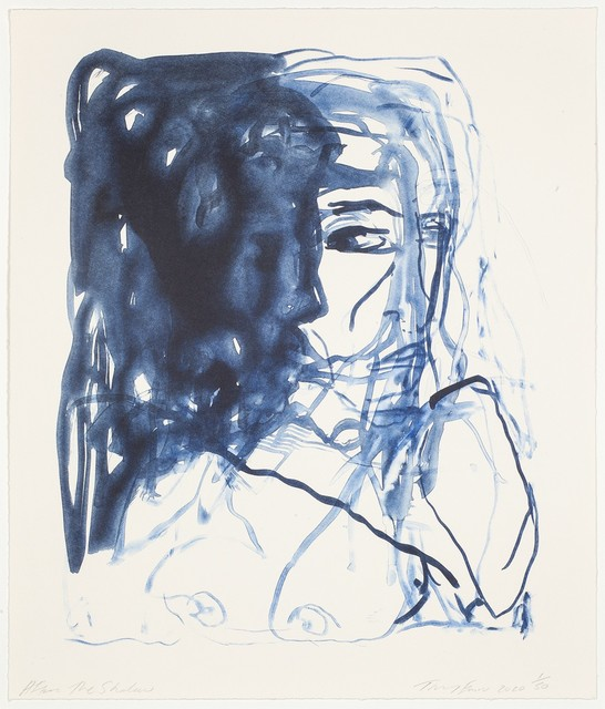 Tracey Emin, 'After The Shadow', 2020, Print, 2 colour lithograph on Somerset Velvet Warm White 400gsm. Framed., The Drang Gallery