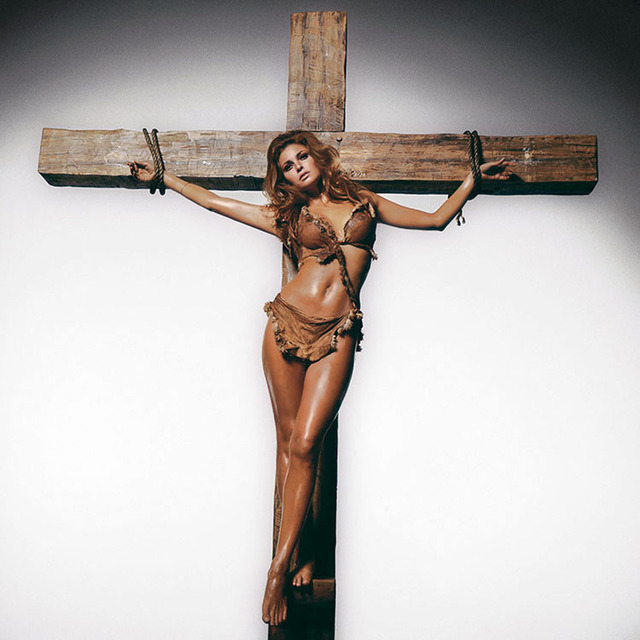 , 'Raquel on the Cross,' 1966, Hilton Asmus