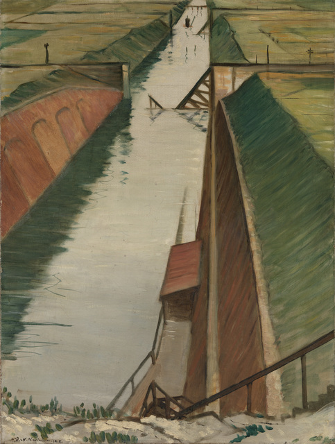 , 'Destroyed Canal, Ytres,' 1918, Osborne Samuel