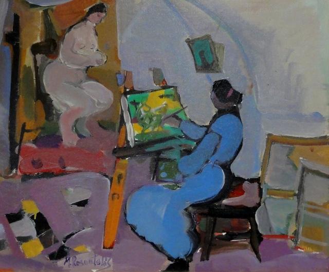 , 'Artist and her Model,' , Eisele Fine Art