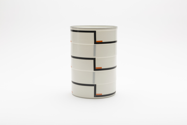 ", 'Cylinder No. 3a ""Black and orange"",' 2018, Gallery LVS"