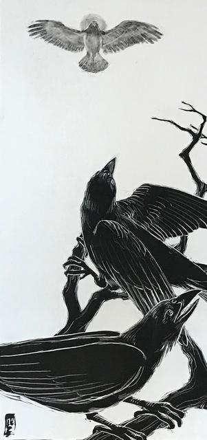 Ellen LeBow, 'Crow and the Hawk #1', 2019, Rice Polak Gallery