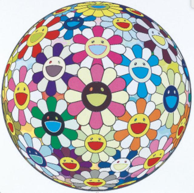 Takashi Murakami, 'Flower Ball (3D) Cosmos', 2011, Print, Offset print, Cold silver and high gloss varnishing, Der-Horng Art Gallery
