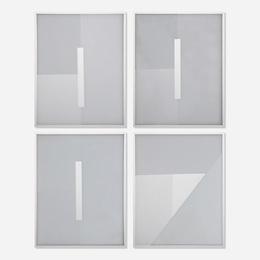 Studio of Josef Albers, 'Four sample glass plates for the White Cross Window, Saint John's Abbey, Collegeville, Minnesota,' c. 1954, Wright: Design Masterworks