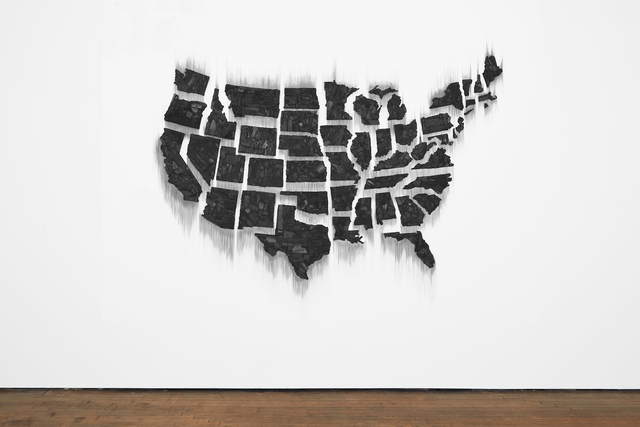 , 'Fire (United States of the Americas),' 2017, Lehmann Maupin