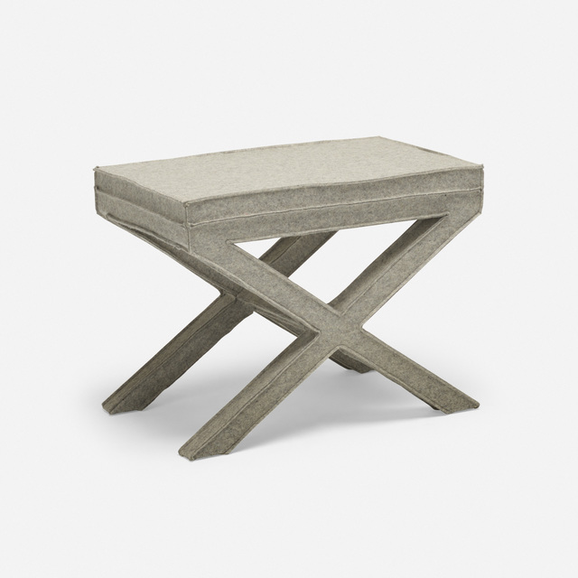 Reed and Delphine Krakoff, 'Prototype Felt stool', 2014, Wright