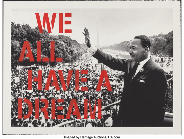 Mr. Brainwash, 'We All Have A Dream (Red Edition)', 2017, Heritage Auctions