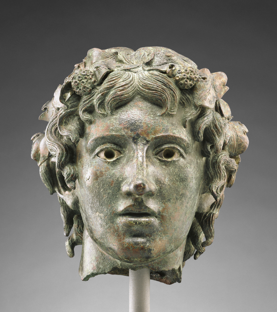 'Head from the Statue of the Young Bacchus',  first half of 1st century, J. Paul Getty Museum