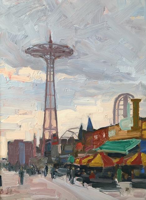 Benjamin Lussier, 'Coney Island Boardwalk', 2017, Grenning Gallery