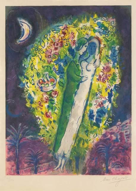 After Marc Chagall, 'COUPLE DANS LES MIMOSAS (MOURLOT CS. 32)', 1967, Doyle